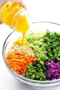 Detox Salad Recipe with Carrot Ginger Dressing
